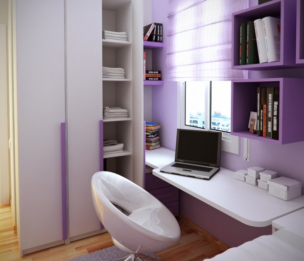 fresh-purple-home-office-room-design