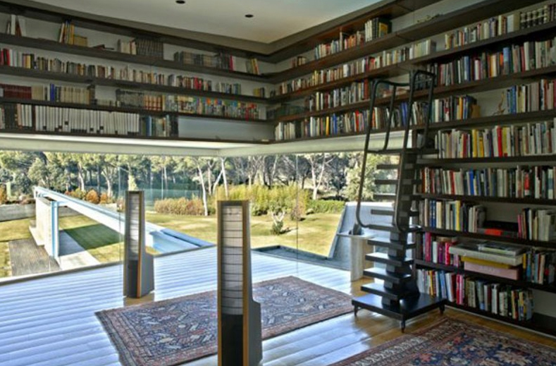 Luxury library in home interior designs for My home interior design