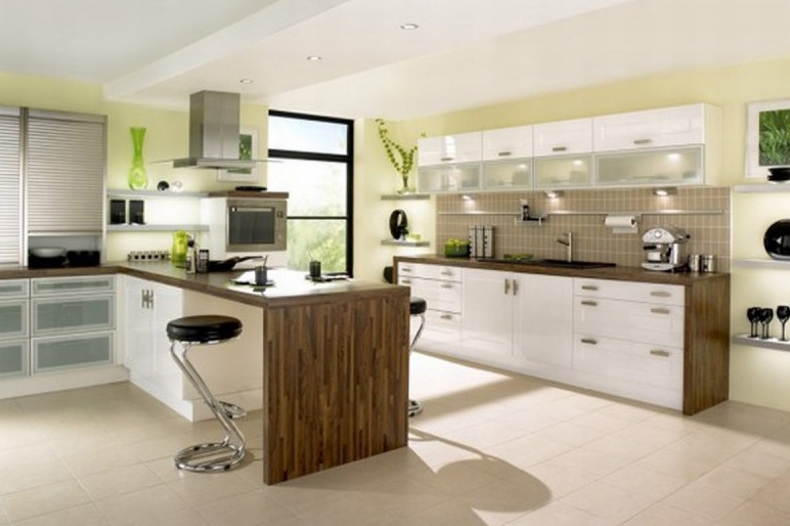 Minimalist Kitchen Design Ideas With Colorfull Paints