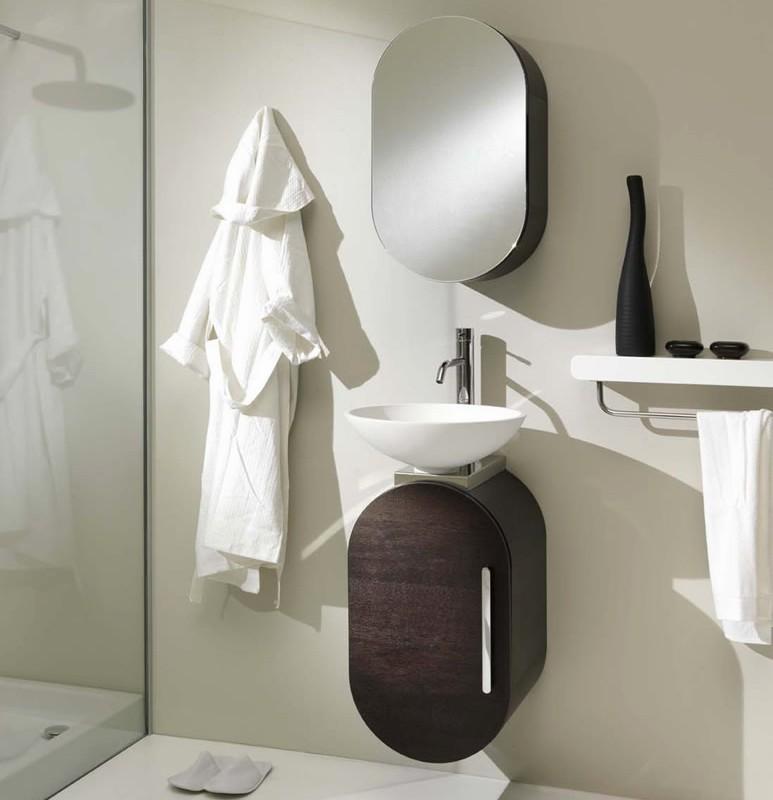 Orange color bathroom design by lasaidea for Bathroom decor 2012