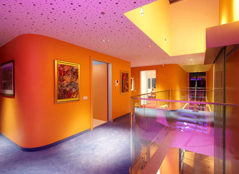 Gallery Of Modern Home Design With Colorful LED Lighting