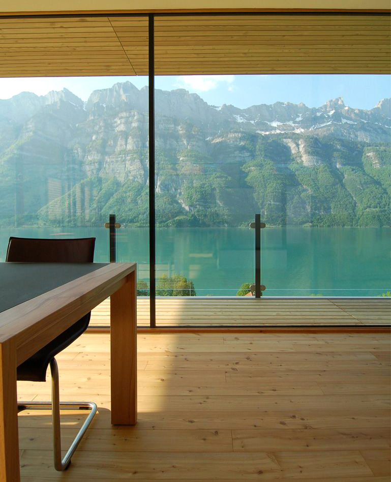 Home design in switzerland the lake surrounding by km architecture