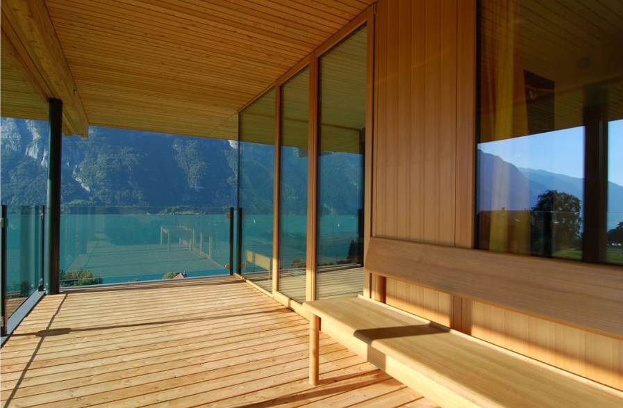 Wood Home Terrace Design In Switzerland By Km Architecture