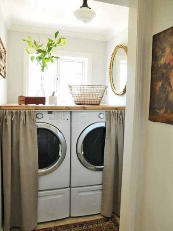 Small laundri storage ideas - Laundry rooms for small spaces decoration ...