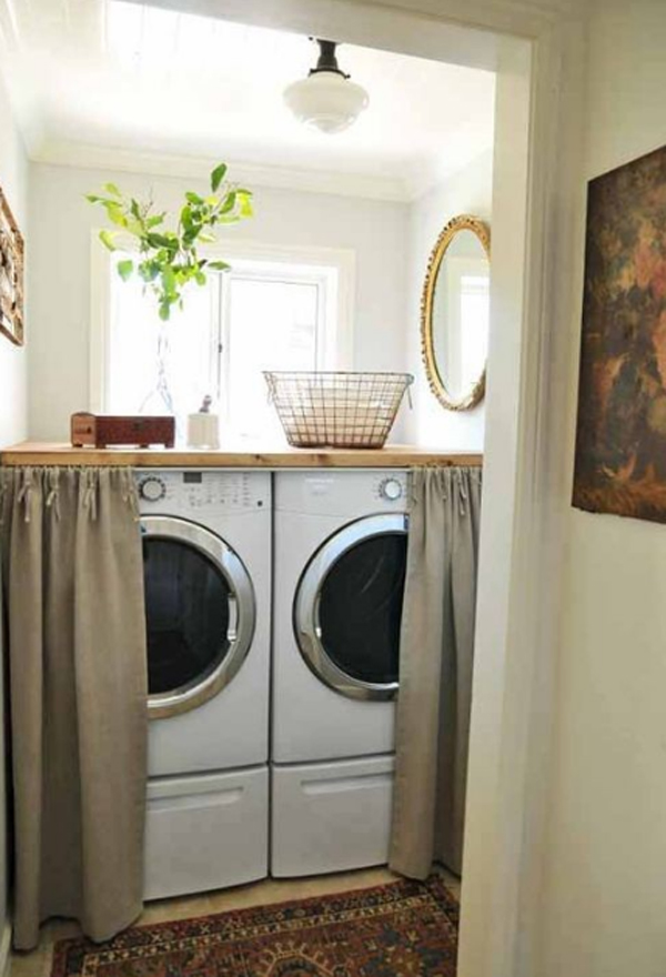 20 small laundry room decor for Small laundry design