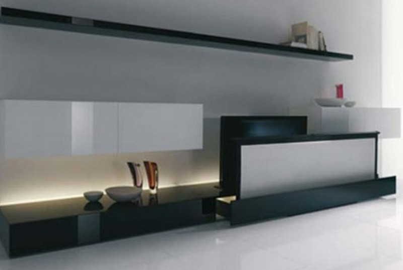 Clean and minimalist home theater room design from acerbis for My minimalist home