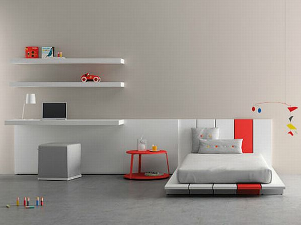 Minimalist kids room design by bm for Room by room design