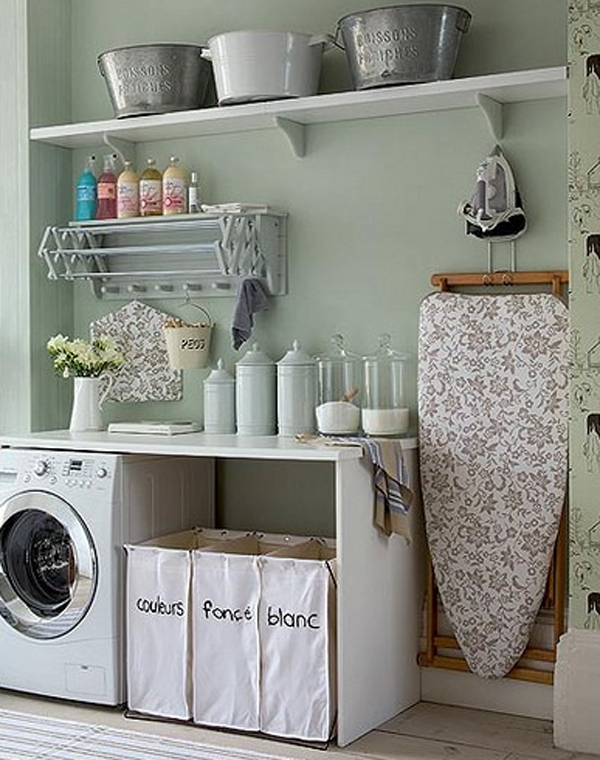 minimalist laundry room ideas 20 Small Laundry Room Ideas : White and Clean Solutions