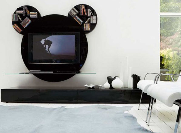 Modern TV Stands Furniture With Rounded Design