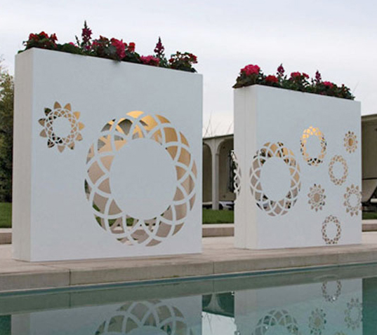 Outdoor Wall Pots and Planters Design by Bysteel Home Design And