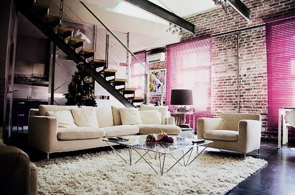 pink living room design ideas
