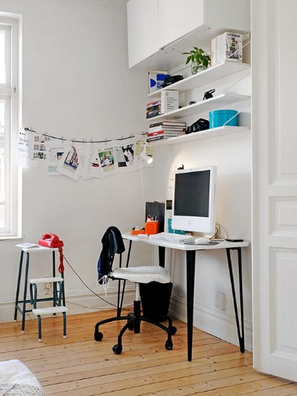 Shelves Above Desk