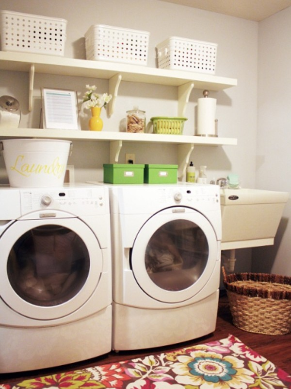 small laundry room ideas with white and clean solutions
