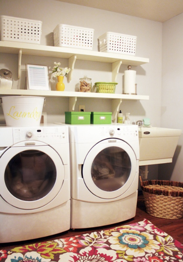 20 Small Laundry Room Ideas White And Clean Solutions: laundry room design