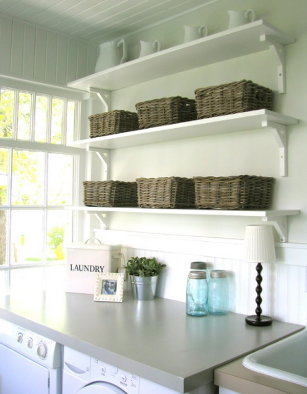 Gallery of 20 small laundry room ideas white and clean solutions