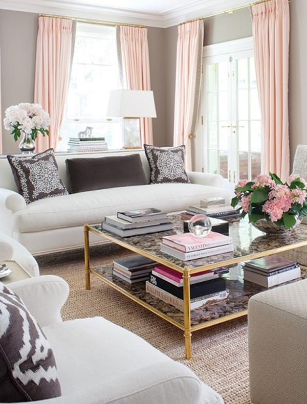 Beautiful Living Room Designs With Pink Style
