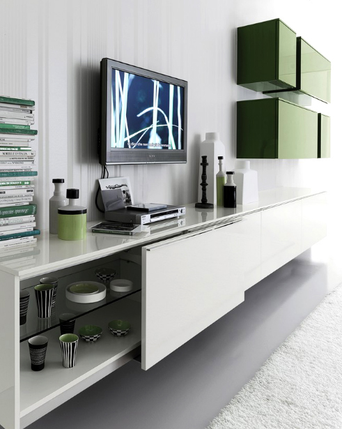stylish and modern wall storage system in interior house Stylish and Modern Wall Storage System in Interior House