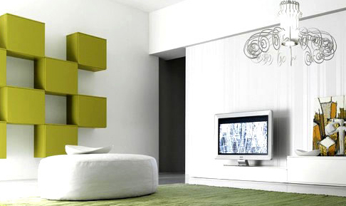 stylish and modern wall system in interior house Stylish and Modern Wall Storage System in Interior House