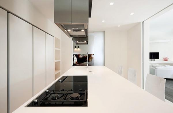 Modern kitchen apartment design located in rome for Apartment design rome