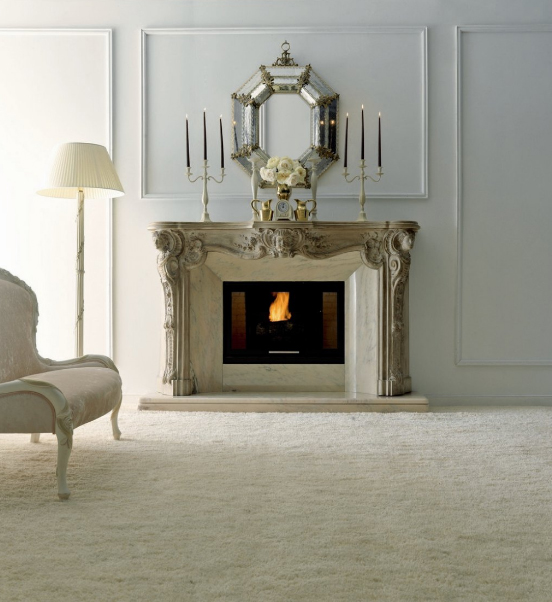 stone electric fireplaces design with art and classic style