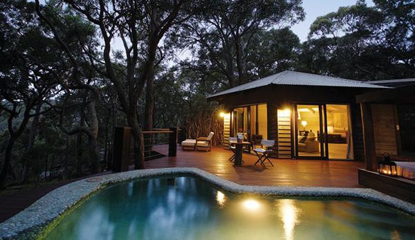 Kết quả hình ảnh cho wooden houses with pool