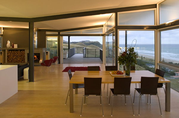 beach house design with dining room decor Minimalist Beach House by Bossley Architects