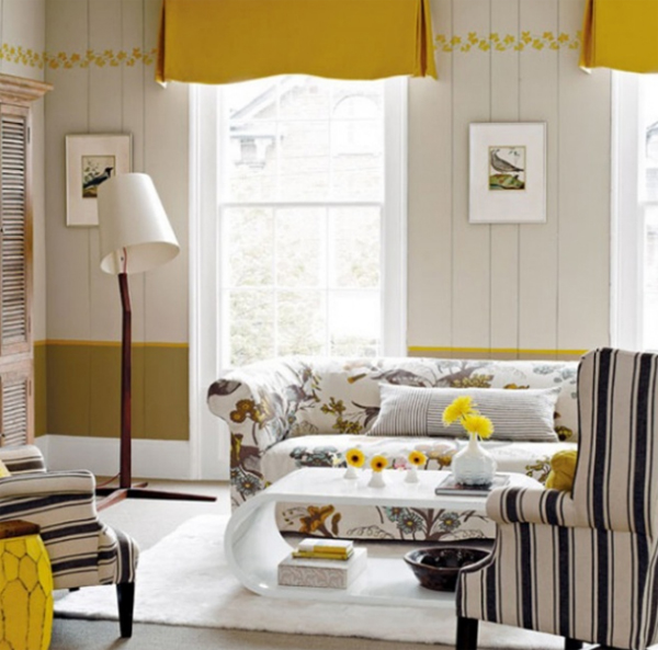 Beautiful Living Room Design With Make Over Colorful Fabrics
