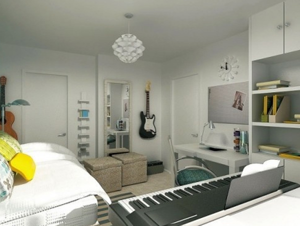 bedroom decor with music themed ideas 20 Inspiring Music Themed Bedroom Ideas
