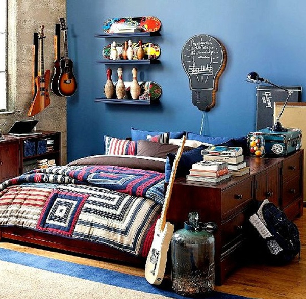 20 inspiring music themed bedroom ideas home design and for Bedroom ideas for boys