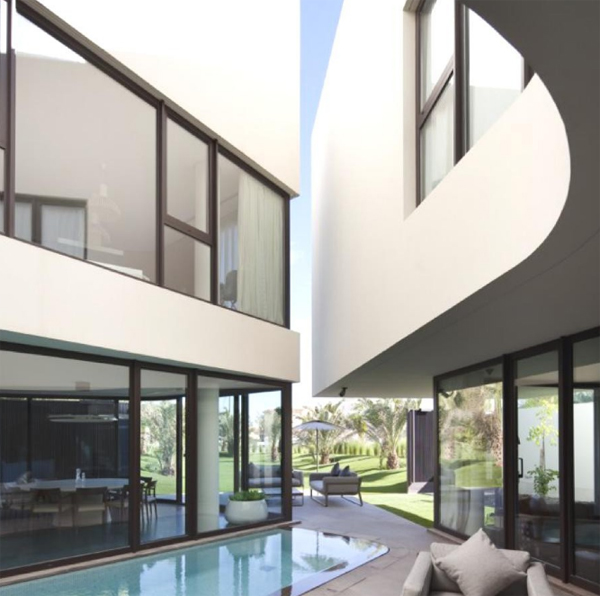 Contemporary home design in kuwait by agi architects Home interior design kuwait