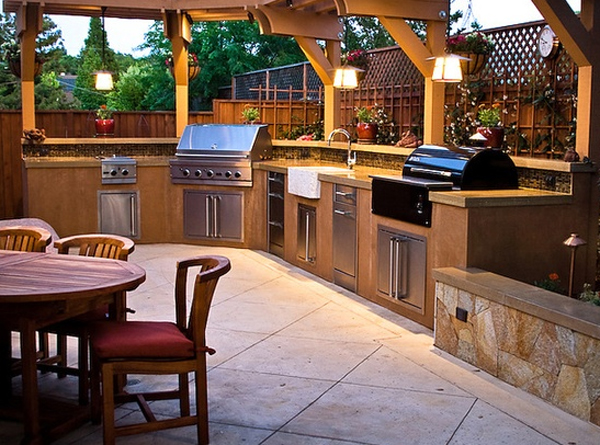 Contempory and luxury outdoor kitchen ideas for Luxury kitchen designs 2012