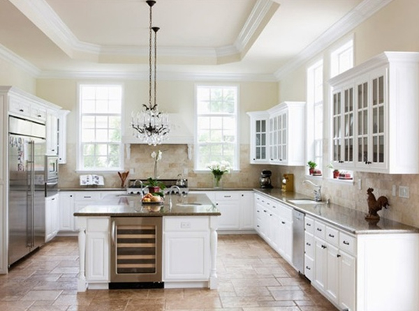 Beautiful white kitchen design ideas for White on white kitchen ideas