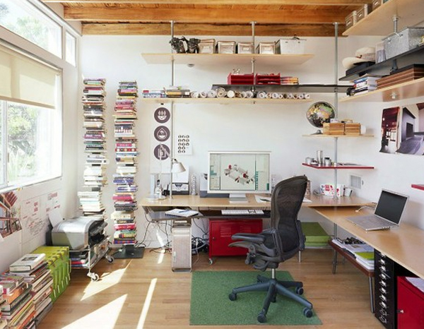 Cool and small home office design for Funky office designs