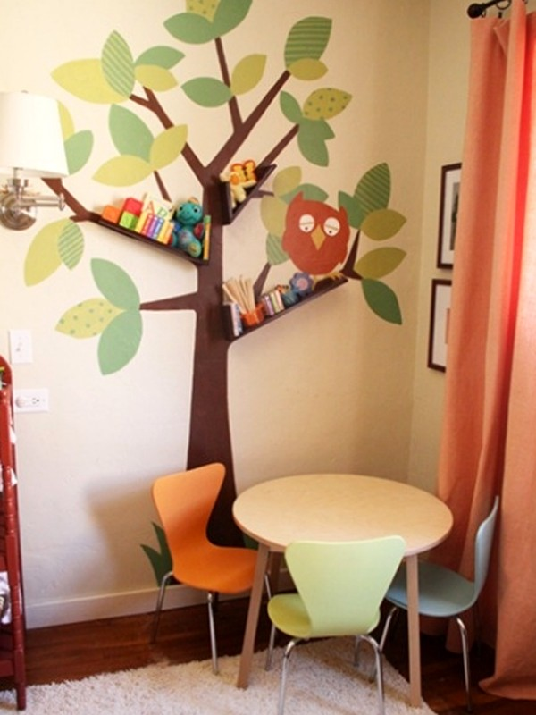 Kids bookshelves furniture with tree branch collections for Cute bookshelf ideas