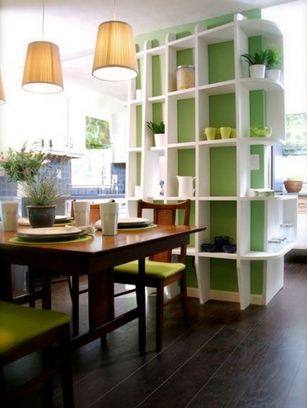 Green dining room sets with storage ideas for Dining room storage ideas