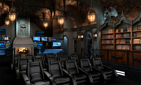 home theater design with batman movie theme - Home Theater Design
