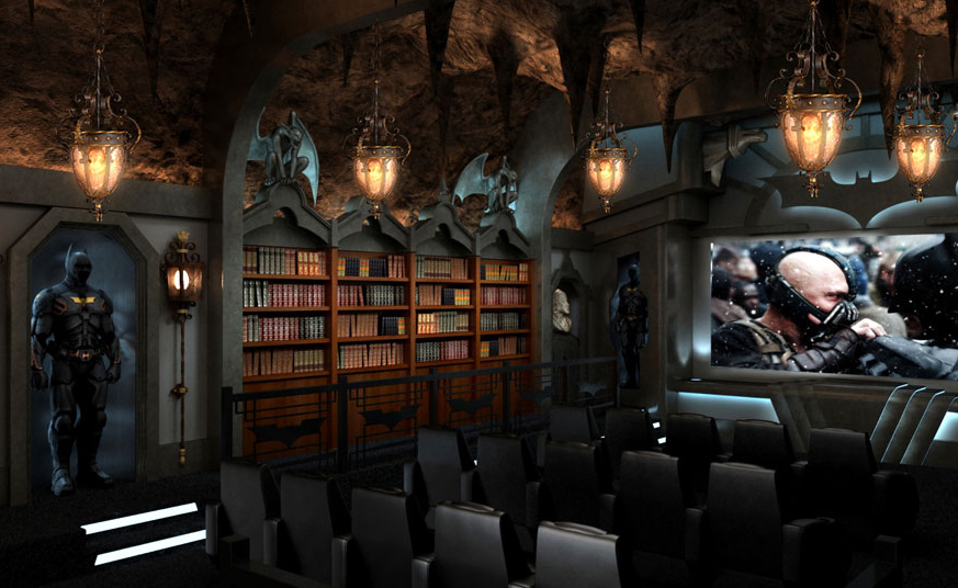 home-theater-design-with-batman-themed-decor | Home Design ... on bedroom design ideas, affordable home ideas, camera design ideas, media room design ideas, education design ideas, security design ideas, surround sound design ideas, home entertainment, home audio design ideas, pool table design ideas, wine cellar design ideas, speaker design ideas, school classroom design ideas, family room design ideas, bar design ideas, home cinema, nyc art studio design ideas, two-story great room design ideas, whole house design ideas, internet design ideas,