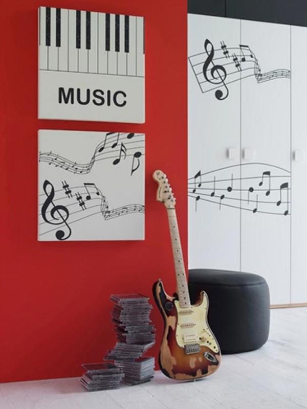 Inspiring music bedroom decorating ideas for Music bedroom designs