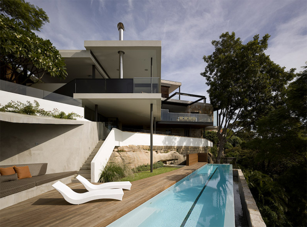 minimalist house design with swimming pool