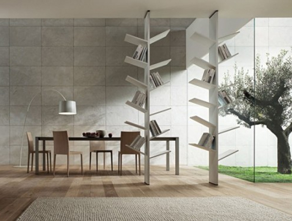 Modern Bookshelves Design modern bookshelves design with tree branch collections | home