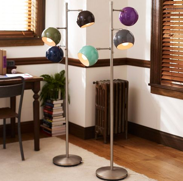 Modern floor lamps for boys room ideas gallery of modern floor lamps with three colorful orbs aloadofball Images