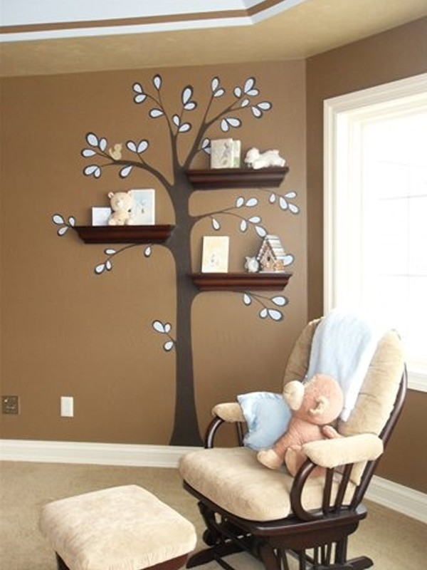 Modern Bookshelves Design cool-and-modern-bookshelves-design-with-tree-branch-collections