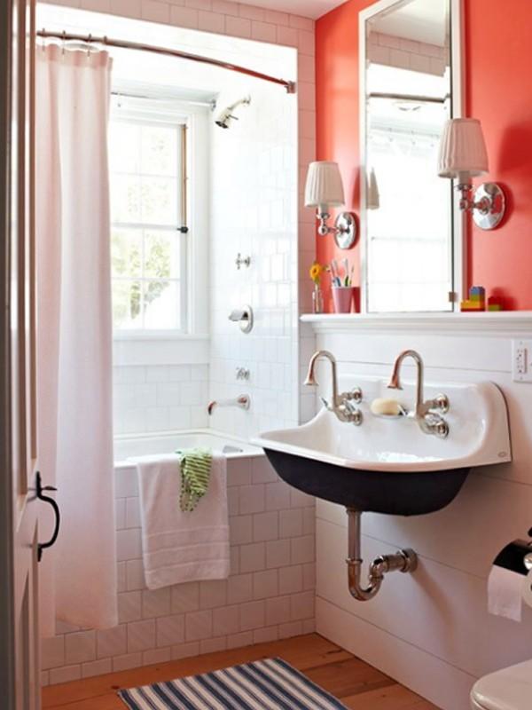 Fresh And Cool Orange Bathroom Ideas