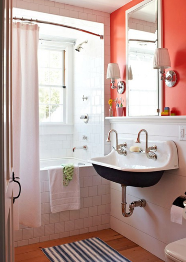 Orange Bathroom Decor Ideas Home Design And Interior