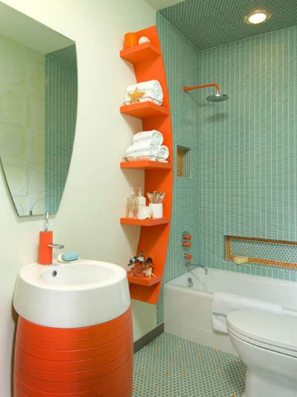 orange-bathroom-organized