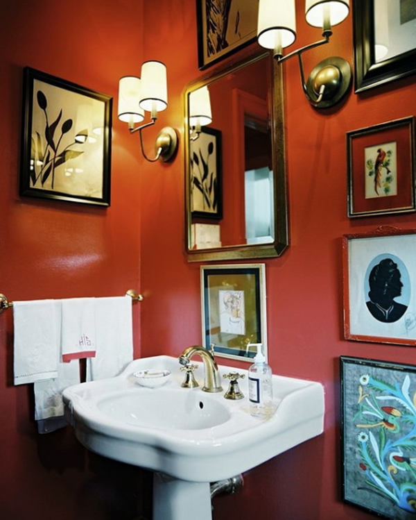 Fresh and cool orange bathroom ideas for Cool bathroom decor ideas