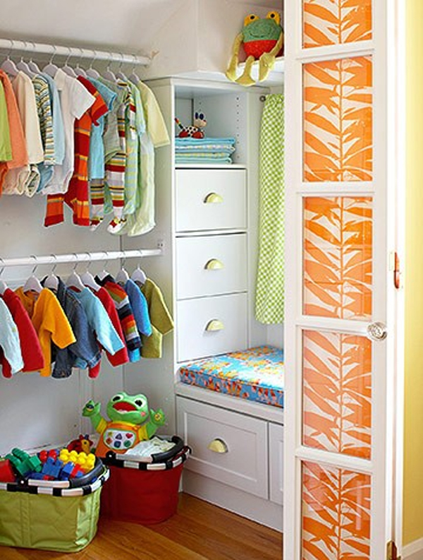 10 best kids closet design with colorful variation home for Kids room closet ideas