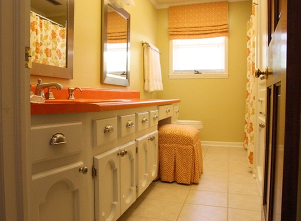 orange-minimalist-bathroom-design-ideas