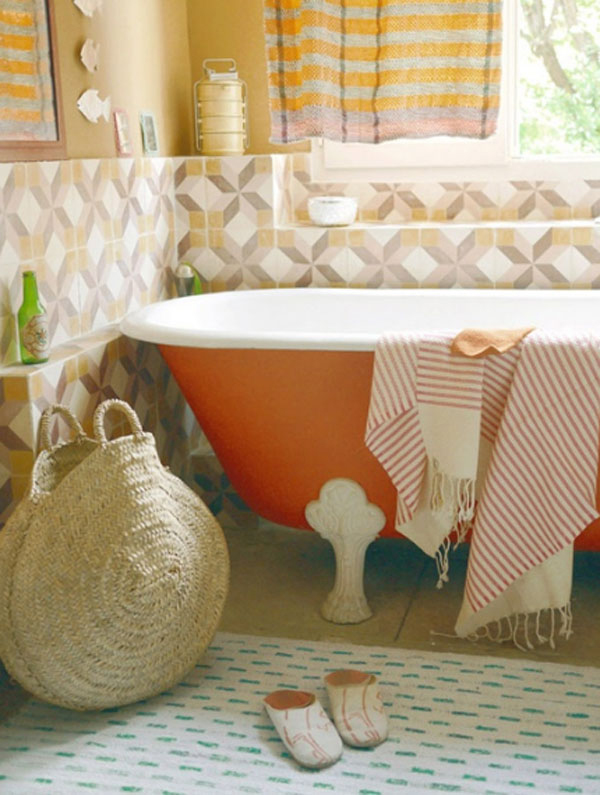 orange-small-bathroom-ideas
