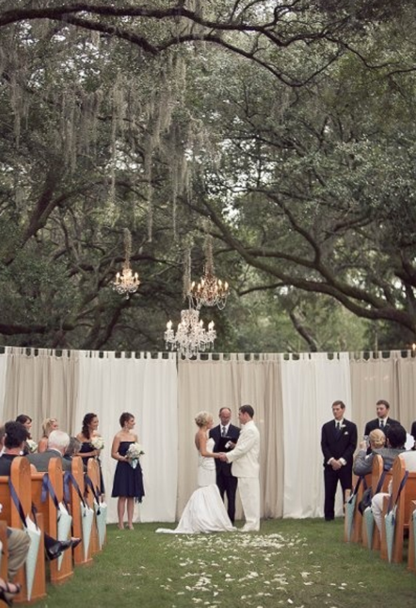 Outdoor chandelier for wedding party aloadofball Images